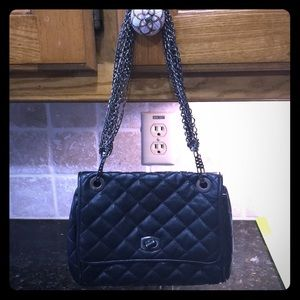 Ann Taylor Black quilted style purse